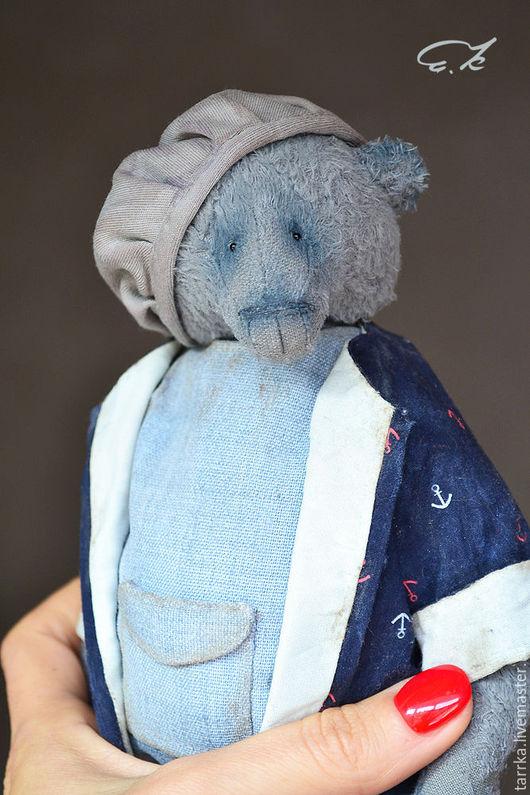 Мишки Тедди ручной работы. Ярмарка Мастеров - ручная работа. Купить Поль. Handmade. Синий, мишка тедди, стальной гранулят