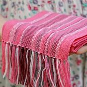 Работы для детей, ручной работы. Ярмарка Мастеров - ручная работа Детский домотканый шарф pink. Handmade.