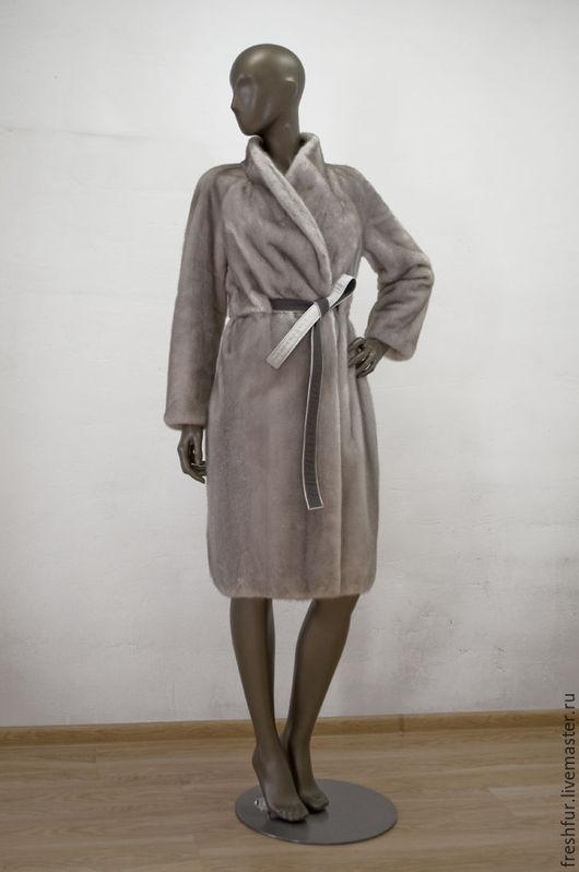 """Верхняя одежда ручной работы. Ярмарка Мастеров - ручная работа. Купить Пальто из платиновой норки """"Привилегия"""". Handmade. Серый"""