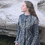 Одежда handmade. Livemaster - original item Nuno Felted Grey Jacket. Women Felt Jacket, Blazer Jacket, Wool Clothi. Handmade.