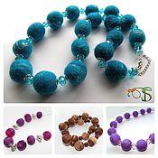 Украшения handmade. Livemaster - original item Felted beads in stock. Handmade.