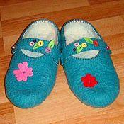 Обувь ручной работы. Ярмарка Мастеров - ручная работа тголубые башмачки. Handmade.