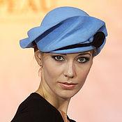 Аксессуары ручной работы. Ярмарка Мастеров - ручная работа голубая шляпка из коллекции «Ар-нуво». Handmade.
