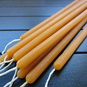Фен-шуй и эзотерика handmade. Livemaster - original item Orange wax candle, 40 minutes. Handmade.