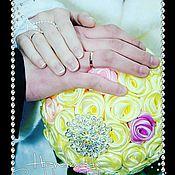 Цветы и флористика ручной работы. Ярмарка Мастеров - ручная работа Брош букет из атласных лент. Handmade.