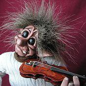 Куклы и игрушки ручной работы. Ярмарка Мастеров - ручная работа Норвежский тролль скрипач. Handmade.