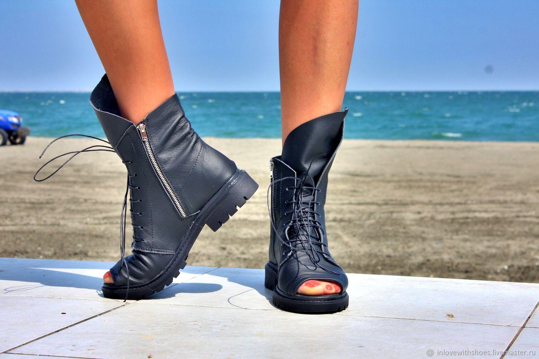 6b9c1e013 Обувь ручной работы. Летние сапоги ботинки на шнуровке и на платформе.  inlovewithshoes.