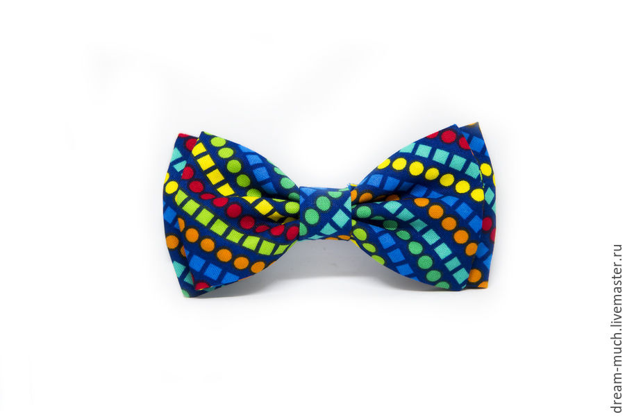 Bow tie blue with rainbow pattern, Ties, Moscow,  Фото №1