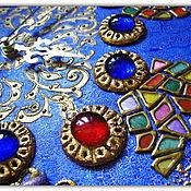 """Для дома и интерьера ручной работы. Ярмарка Мастеров - ручная работа Сувенирные часы """"Чичеклер"""" (турец. """"Цветы""""). Handmade."""