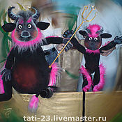 Puppet show handmade. Livemaster - original item Hell. Tale about priest and his worker Balda.. Handmade.