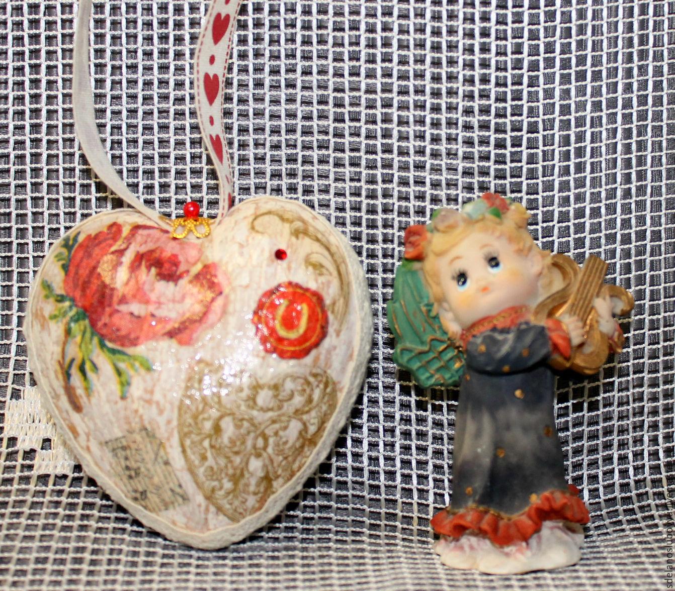 Винтажное Сердечко декупаж, Подарки, Москва, Фото №1