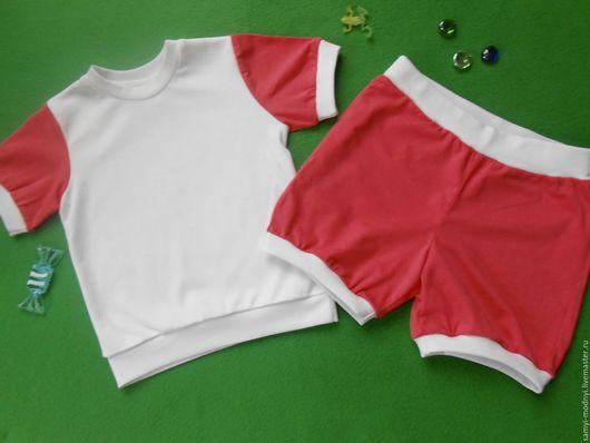 Одежда для девочек, ручной работы. Ярмарка Мастеров - ручная работа. Купить Пижама летняя Клубничный Зефир. Handmade. Розовый