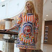 """Одежда ручной работы. Ярмарка Мастеров - ручная работа Платье """"Fabulous Italy"""" из жаккарда Dolce Gabbana. Handmade."""
