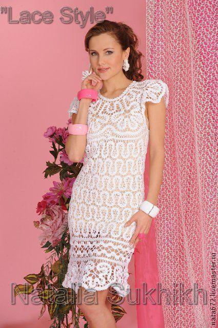 Dresses handmade. Livemaster - handmade. Buy Author lace dress 'Daisies'.Author's dress, prom dress, white lace dress