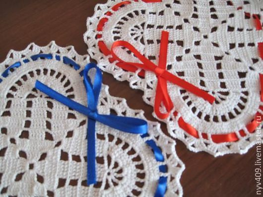 """Текстиль, ковры ручной работы. Ярмарка Мастеров - ручная работа. Купить Вязаный комплект """"Я и ты"""". Handmade. Белый"""