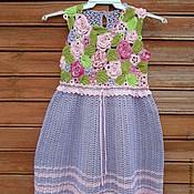 Работы для детей, ручной работы. Ярмарка Мастеров - ручная работа платье крючком для девочки Розовые розы. Handmade.