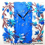 Для дома и интерьера ручной работы. Ярмарка Мастеров - ручная работа часы из стекла, фьюзинг  Сказка, рассказанная на ночь. Handmade.