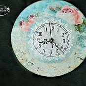 """Часы классические ручной работы. Ярмарка Мастеров - ручная работа Часы """" Розы"""". Handmade."""