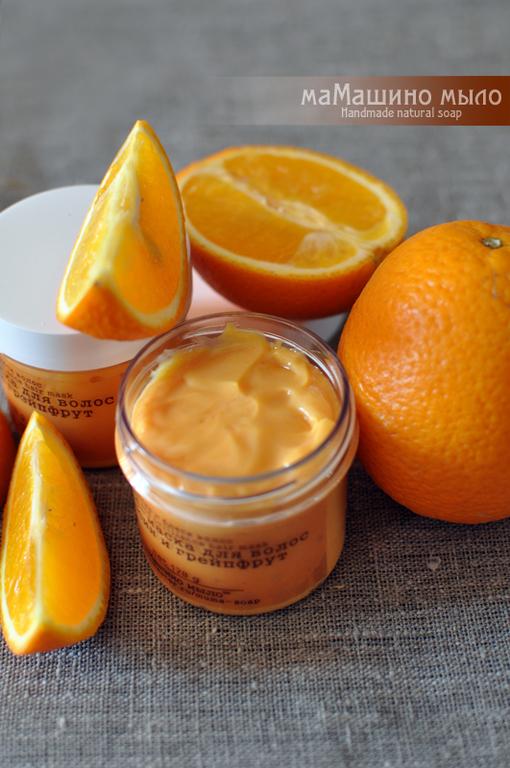 Маски для волос ручной работы. Ярмарка Мастеров - ручная работа. Купить Маска для волос Апельсин и грейпфрут. Handmade. Маска для волос