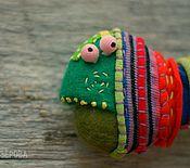 Украшения ручной работы. Ярмарка Мастеров - ручная работа Рыбка брошь Цихлозома яркополосая. Handmade.