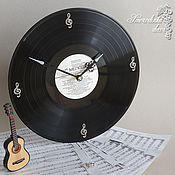 Для дома и интерьера ручной работы. Ярмарка Мастеров - ручная работа Часы Скрипичный ключ из виниловой пластинки. Handmade.