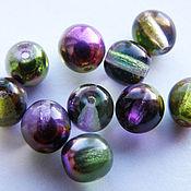 Бусины ручной работы. Ярмарка Мастеров - ручная работа Бусины круглые fire polished Magic Violet-Green 6мм. Handmade.