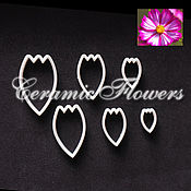 Материалы для творчества handmade. Livemaster - original item A set of cutters the Petals of Cosmos, plastic. Handmade.