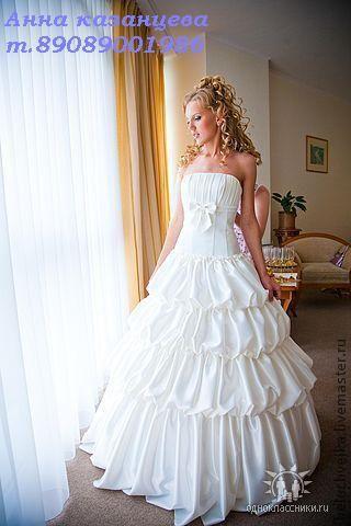 Платья ручной работы. Ярмарка Мастеров - ручная работа. Купить свадебное платье. Handmade. Платье свадебное, атлас