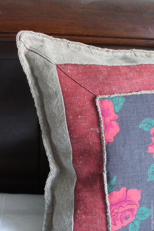Текстиль, ковры ручной работы. Ярмарка Мастеров - ручная работа. Купить Льняные декоративные подушки. Handmade. Серый, подушка декоративная