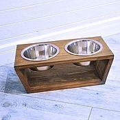 Подставки для мисок ручной работы. Ярмарка Мастеров - ручная работа Подставка для мисок из дерева. Handmade.