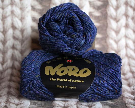 Вязание ручной работы. Ярмарка Мастеров - ручная работа. Купить Noro Tokonatsu 5. Handmade. Тёмно-синий, норо лето