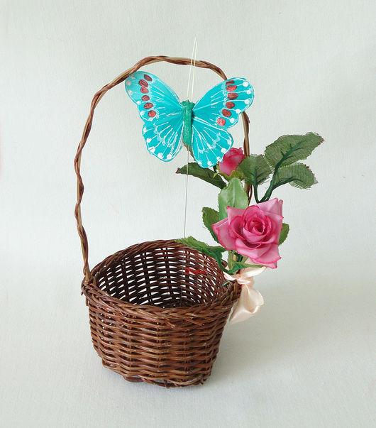 Материалы для флористики ручной работы. Ярмарка Мастеров - ручная работа. Купить Бабочки на палочке (6 цветов)  Д44. Handmade. Бабочка