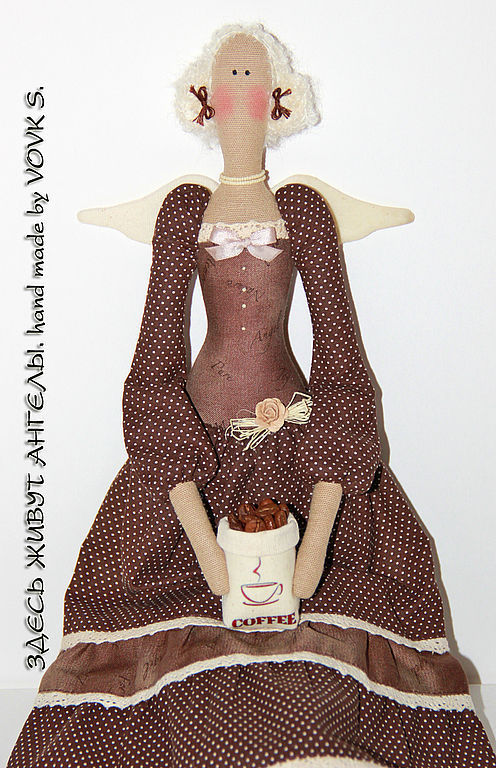 Куклы Тильды ручной работы. Ярмарка Мастеров - ручная работа. Купить Кофейный ангел.. Handmade. Кофейный ангел, ароматизированная кукла