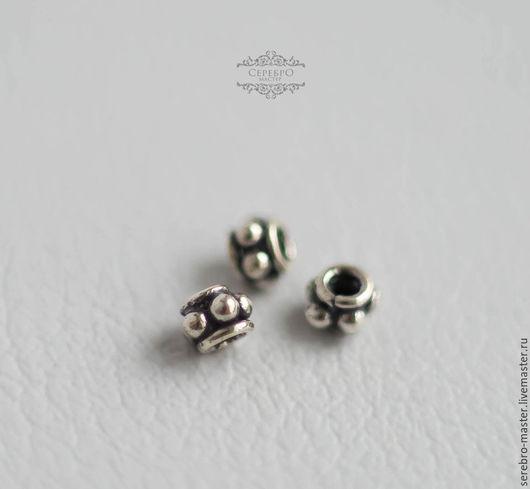 Для украшений ручной работы. Ярмарка Мастеров - ручная работа. Купить Бусина (3мм,5мм) разделитель серебро 925 пробы. Handmade.