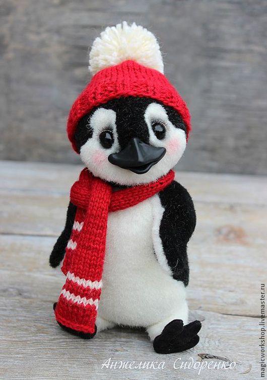 Мишки Тедди ручной работы. Ярмарка Мастеров - ручная работа. Купить Пингвин Веня. Handmade. Чёрно-белый, купить подарок