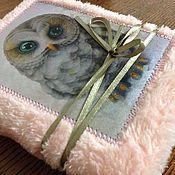 Блокноты ручной работы. Ярмарка Мастеров - ручная работа Пушистый блокнот с совушкой. Handmade.