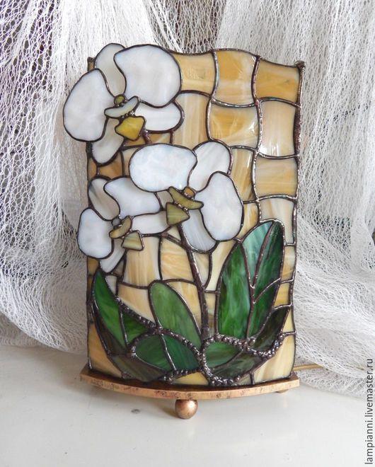 """Освещение ручной работы. Ярмарка Мастеров - ручная работа. Купить Лампа """"Белая орхидея"""" 2. Handmade. Настольная лампа, подарок"""