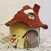 Для дома и интерьера ручной работы. Ярмарка Мастеров - ручная работа Чайный домик-грелка В ожидании чуда. Handmade.