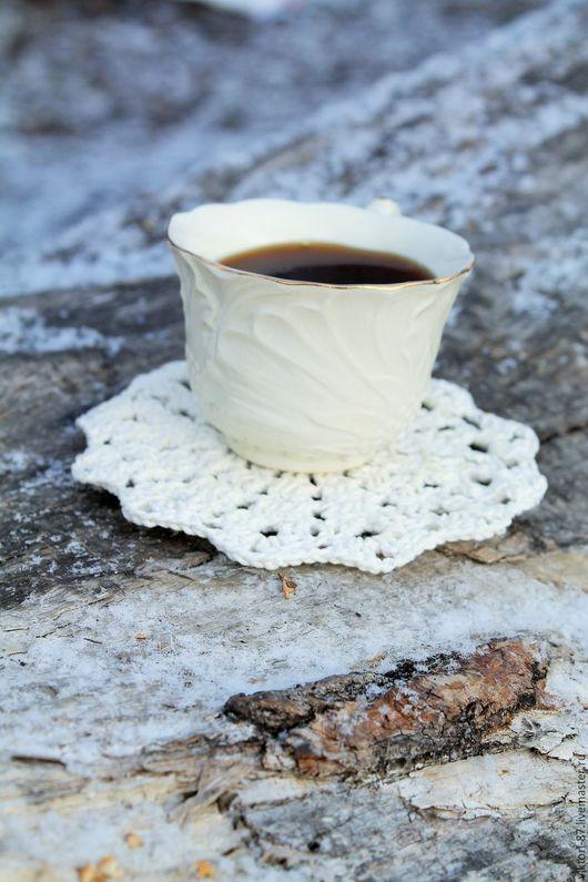 """Текстиль, ковры ручной работы. Ярмарка Мастеров - ручная работа. Купить набор для чаепития    """"Tea time"""". Handmade. Белый"""