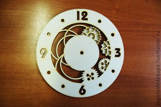Часы `Шестеренки` Размер: d-30 см Материал: фанера 3 мм
