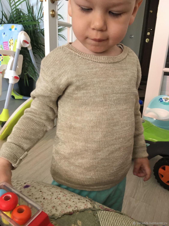Одежда для мальчиков, ручной работы. Ярмарка Мастеров - ручная работа. Купить Детский джемпер лён-кашемир. Handmade. Льняной, кашемир