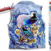 Одежда handmade. Livemaster - original item denim vest 3d