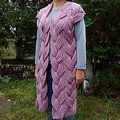 Одежда ручной работы. Ярмарка Мастеров - ручная работа Жилет из плетеных кос. Handmade.