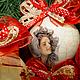Новый год 2017 ручной работы. елочные шары Прекрасные Дамы. Декупаж. Tatiana (missmarple). Ярмарка Мастеров. Елочные украшения, игрушка
