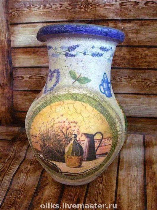 Графины, кувшины ручной работы. Ярмарка Мастеров - ручная работа. Купить Керамический кувшин Прованские травы. Handmade. Кувшин, глина