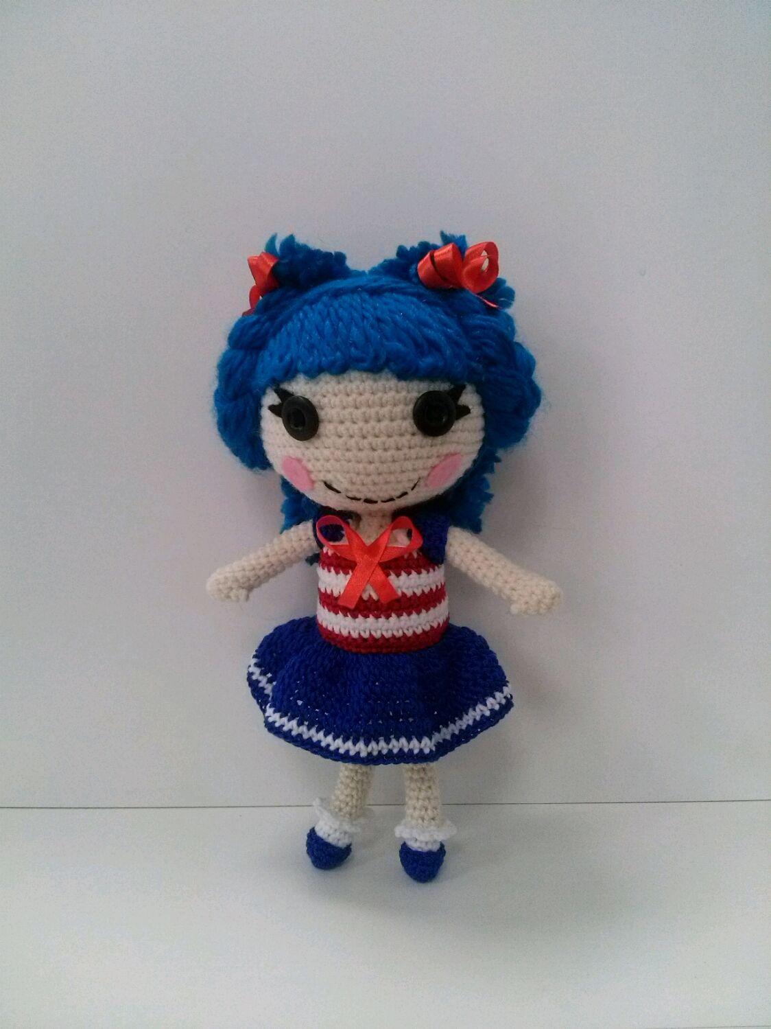 Вязаная крючком кукла Лалалупси Морячка 4