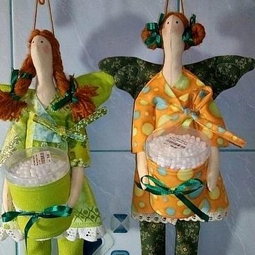 Для дома и интерьера ручной работы. Ярмарка Мастеров - ручная работа Банная фея хранительница ватных палочек и дисков. Handmade.