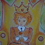 """Картины и панно ручной работы. Ярмарка Мастеров - ручная работа Картина пастелью """"Сказки на ночь. Апельсиновый король"""". Handmade."""