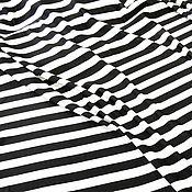 Материалы для творчества ручной работы. Ярмарка Мастеров - ручная работа Футер 2-нитка Полоска черно-белая. Handmade.