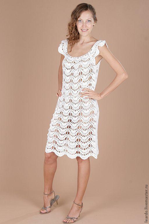 Платья ручной работы. Ярмарка Мастеров - ручная работа. Купить Платье, арт. 12-3-14. Handmade. Белый